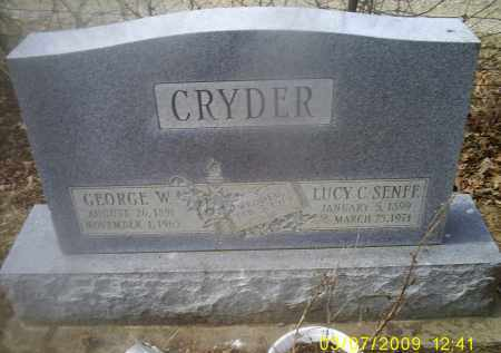 SENFF CRYDER, LUCY C. - Ross County, Ohio | LUCY C. SENFF CRYDER - Ohio Gravestone Photos