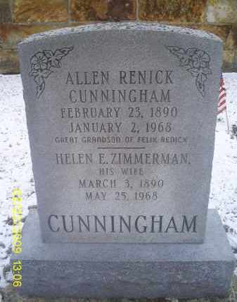 CUNNINGHAM, ALLEN RENICK - Ross County, Ohio | ALLEN RENICK CUNNINGHAM - Ohio Gravestone Photos