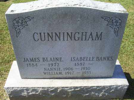 BANKS CUNNINGHAM, ISABELLE - Ross County, Ohio | ISABELLE BANKS CUNNINGHAM - Ohio Gravestone Photos