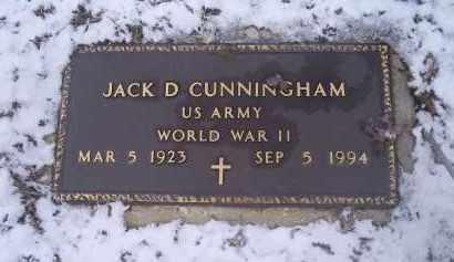 CUNNINGHAM, JACK D. - Ross County, Ohio | JACK D. CUNNINGHAM - Ohio Gravestone Photos