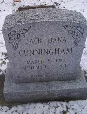 CUNNINGHAM, JACK DANA - Ross County, Ohio | JACK DANA CUNNINGHAM - Ohio Gravestone Photos