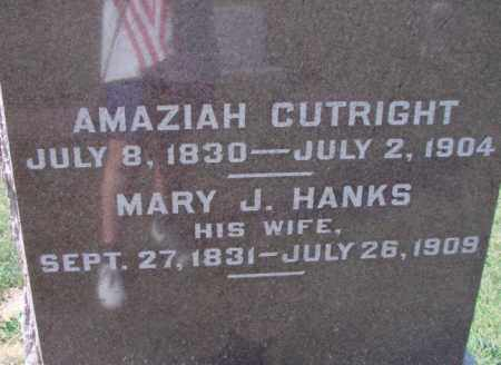 HANKS CUTRIGHT, MARY J - Ross County, Ohio | MARY J HANKS CUTRIGHT - Ohio Gravestone Photos