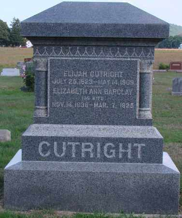BARCLAY CUTRIGHT, ELIZABETH ANN - Ross County, Ohio | ELIZABETH ANN BARCLAY CUTRIGHT - Ohio Gravestone Photos