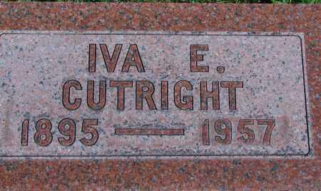 CUTRIGHT, IVA E - Ross County, Ohio | IVA E CUTRIGHT - Ohio Gravestone Photos