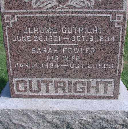 FOWLER CUTRIGHT, SARAH - Ross County, Ohio | SARAH FOWLER CUTRIGHT - Ohio Gravestone Photos