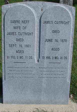 CUTRIGHT, SABRE - Ross County, Ohio | SABRE CUTRIGHT - Ohio Gravestone Photos