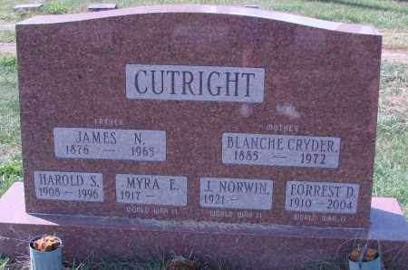 CUTRIGHT, FORREST D - Ross County, Ohio | FORREST D CUTRIGHT - Ohio Gravestone Photos