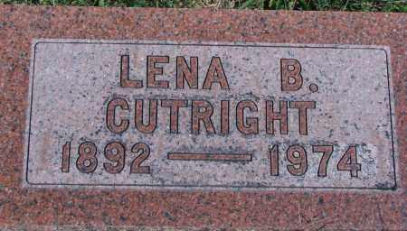 CUTRIGHT, LENA B - Ross County, Ohio | LENA B CUTRIGHT - Ohio Gravestone Photos