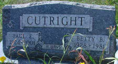 CUTRIGHT, BETTY B - Ross County, Ohio | BETTY B CUTRIGHT - Ohio Gravestone Photos
