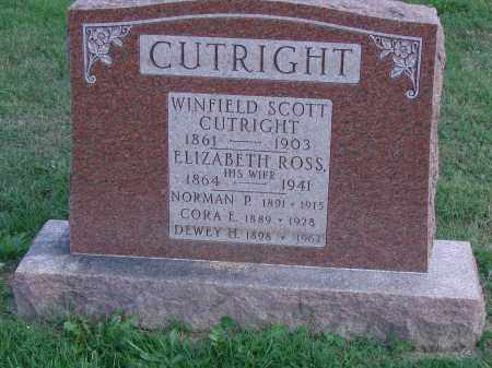 CUTRIGHT, CORA E - Ross County, Ohio | CORA E CUTRIGHT - Ohio Gravestone Photos