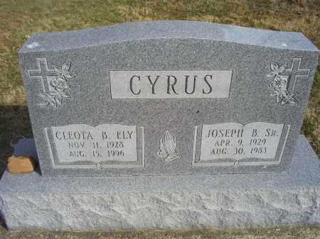ELY CYRUS, CLEOTA B. - Ross County, Ohio | CLEOTA B. ELY CYRUS - Ohio Gravestone Photos