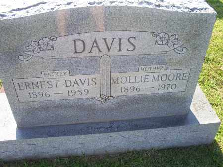 DAVIS, MOLLIE MOORE - Ross County, Ohio | MOLLIE MOORE DAVIS - Ohio Gravestone Photos