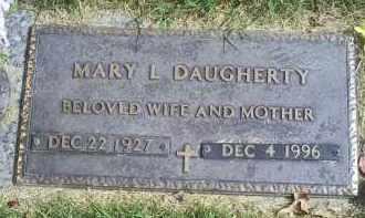 DAUGHERTY, MARY L. - Ross County, Ohio   MARY L. DAUGHERTY - Ohio Gravestone Photos