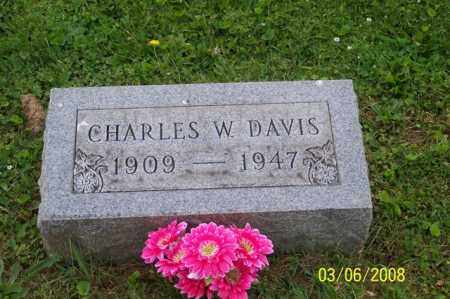 DAVIS, CHARLES W. - Ross County, Ohio | CHARLES W. DAVIS - Ohio Gravestone Photos