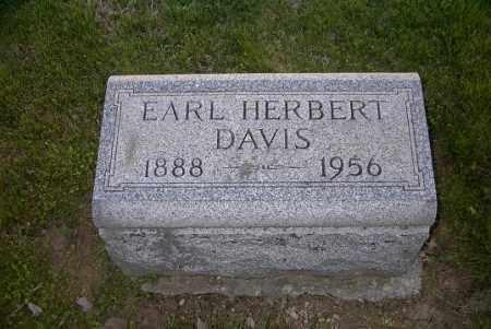 DAVIS, EARL HERBERT - Ross County, Ohio | EARL HERBERT DAVIS - Ohio Gravestone Photos
