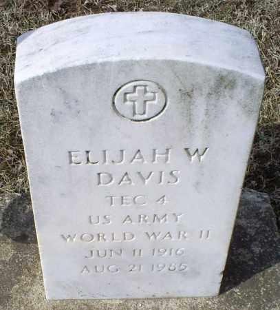 DAVIS, ELIJAH W. - Ross County, Ohio | ELIJAH W. DAVIS - Ohio Gravestone Photos