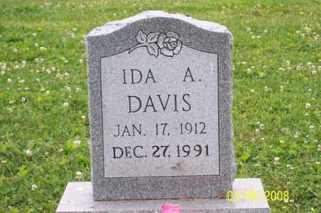 DAVIS, IDA A. - Ross County, Ohio | IDA A. DAVIS - Ohio Gravestone Photos
