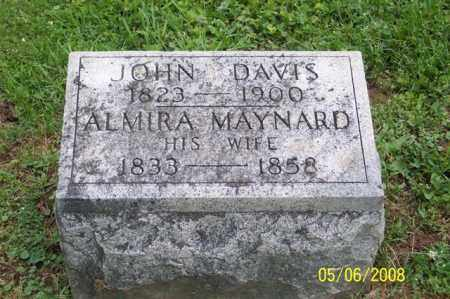 DAVIS, ALMIRA - Ross County, Ohio | ALMIRA DAVIS - Ohio Gravestone Photos
