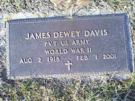DAVIS, JAMES DEWEY - Ross County, Ohio | JAMES DEWEY DAVIS - Ohio Gravestone Photos