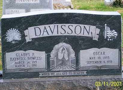 HAYBURN DAVISSON, GLADYS P. - Ross County, Ohio | GLADYS P. HAYBURN DAVISSON - Ohio Gravestone Photos