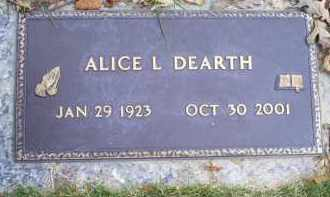 DEARTH, ALICE L. - Ross County, Ohio | ALICE L. DEARTH - Ohio Gravestone Photos