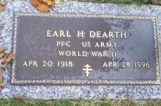 DEARTH, EARL H. - Ross County, Ohio | EARL H. DEARTH - Ohio Gravestone Photos