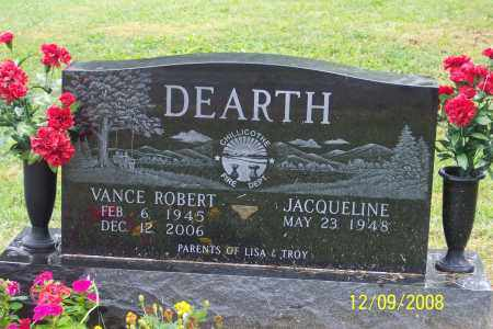 DEARTH, VANCE ROBERT - Ross County, Ohio | VANCE ROBERT DEARTH - Ohio Gravestone Photos
