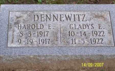 DENNEWITZ, GLADYS E. - Ross County, Ohio | GLADYS E. DENNEWITZ - Ohio Gravestone Photos