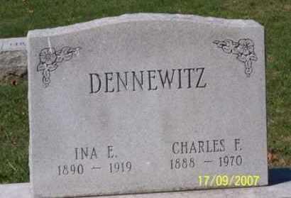 DENNEWITZ, INA E. - Ross County, Ohio | INA E. DENNEWITZ - Ohio Gravestone Photos