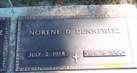 DENNEWITZ, NORENE D. - Ross County, Ohio   NORENE D. DENNEWITZ - Ohio Gravestone Photos