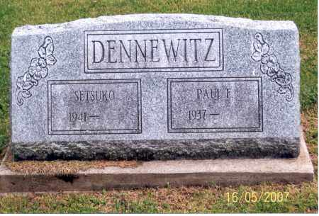 DENNEWITZ, SETSUKO - Ross County, Ohio | SETSUKO DENNEWITZ - Ohio Gravestone Photos