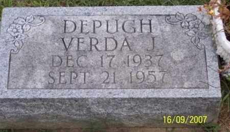 DEPUGH, VERDA J. - Ross County, Ohio | VERDA J. DEPUGH - Ohio Gravestone Photos