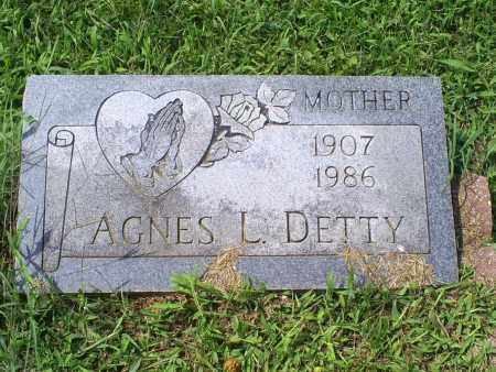DETTY, AGNES L. - Ross County, Ohio | AGNES L. DETTY - Ohio Gravestone Photos