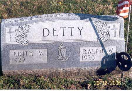 DETTY, RALPH W. - Ross County, Ohio | RALPH W. DETTY - Ohio Gravestone Photos