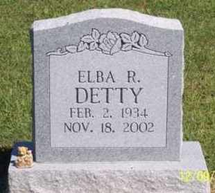 DETTY, ELBA R. - Ross County, Ohio | ELBA R. DETTY - Ohio Gravestone Photos