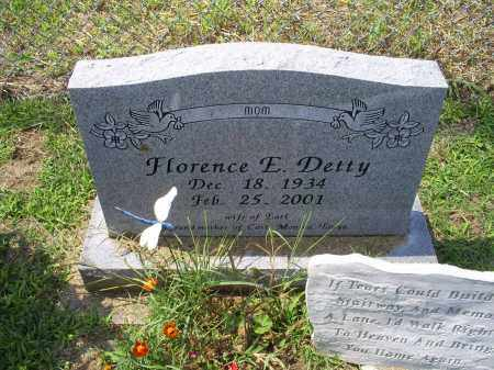 DETTY, FLORENCE E. - Ross County, Ohio | FLORENCE E. DETTY - Ohio Gravestone Photos
