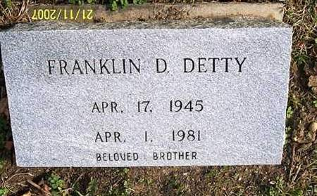 DETTY, FRANKLIN - Ross County, Ohio | FRANKLIN DETTY - Ohio Gravestone Photos