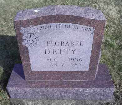 DETTY, FLORABEL - Ross County, Ohio | FLORABEL DETTY - Ohio Gravestone Photos