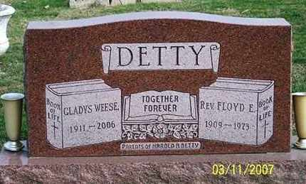 DETTY, GLADYS - Ross County, Ohio | GLADYS DETTY - Ohio Gravestone Photos
