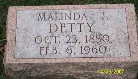 DETTY, MALINDA J. - Ross County, Ohio | MALINDA J. DETTY - Ohio Gravestone Photos