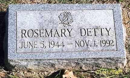DETTY, ROSEMARY - Ross County, Ohio | ROSEMARY DETTY - Ohio Gravestone Photos