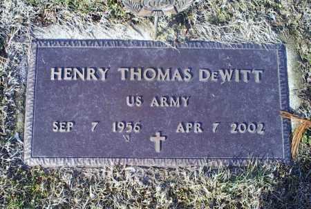 DEWITT, HENRY THOMAS - Ross County, Ohio | HENRY THOMAS DEWITT - Ohio Gravestone Photos