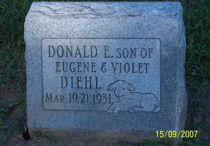 DIEHL, DONALD E. - Ross County, Ohio | DONALD E. DIEHL - Ohio Gravestone Photos