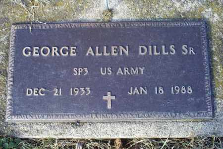 DILLS, GEORGE ALLEN SR. - Ross County, Ohio | GEORGE ALLEN SR. DILLS - Ohio Gravestone Photos