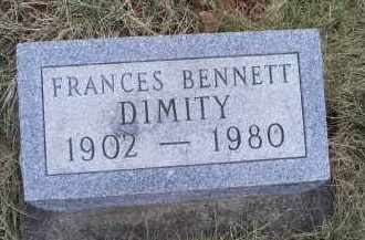 DIMITY, FRANCES - Ross County, Ohio | FRANCES DIMITY - Ohio Gravestone Photos