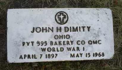 DIMITY, JOHN H. - Ross County, Ohio | JOHN H. DIMITY - Ohio Gravestone Photos