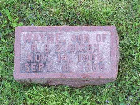 DIXON, WAYNE - Ross County, Ohio | WAYNE DIXON - Ohio Gravestone Photos