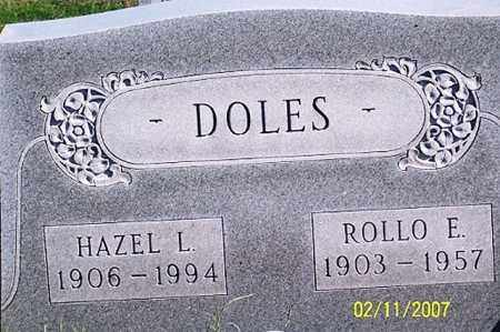 DOLES, HAZEL L. - Ross County, Ohio | HAZEL L. DOLES - Ohio Gravestone Photos