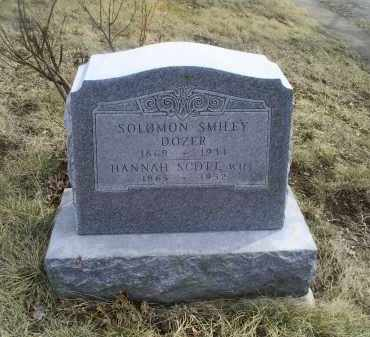 SCOTT DOZER, HANNAH - Ross County, Ohio | HANNAH SCOTT DOZER - Ohio Gravestone Photos