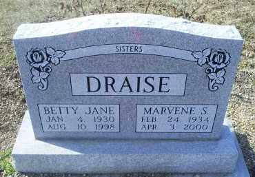 DRAISE, BETTY JANE - Ross County, Ohio | BETTY JANE DRAISE - Ohio Gravestone Photos